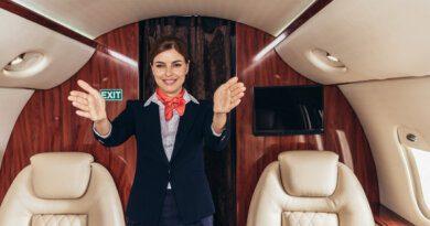 Стюардесса вмини-юбке показала фото наборту самолета&nbsp