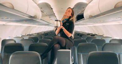 Стюардесса в короткой юбке восхитила подписчиков снимком