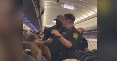 Задержание курящей в самолете пассажирки сняли на видео