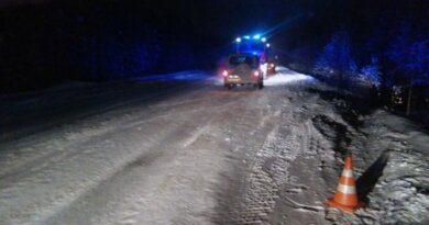 Автомобилист из Усинска под Сосногорском улетел в кювет
