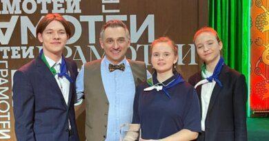 Команда школьников из Усинска выиграла в игре «Мы — грамотеи!» на телеканале«Культура»
