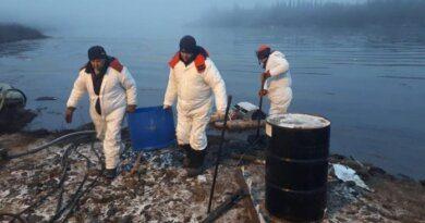 Ликвидацией последствий нефтеразлива на реке Колве занимаются около сотни человек