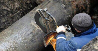 На Парковой в Усинске зафиксировали прорыв водовода