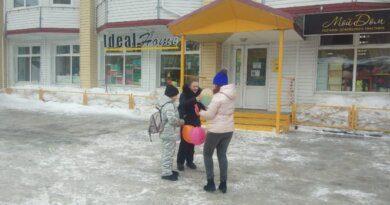 На выходных жителям Усинска дарили воздушное счастье