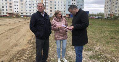 Николай Такаев рассказал, как строится будущая площадка для воркаута и стритбола