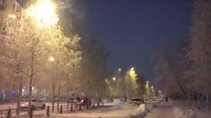 Новая попытка зимы воцариться в Усинске