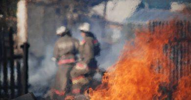 Огонь уничтожил дачный дом в Усинске