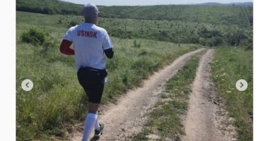 Спортсмен из Усинска пробежал марафон во славу Диониса