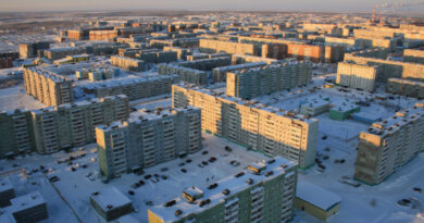 Усинск укрывает снегом