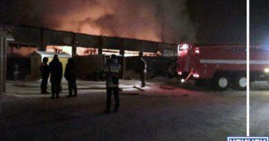 В минувшую пятницу в Усинске сгорел ангар