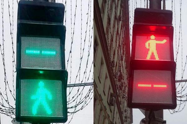 ВМоскве появились первые квадратные светофоры — Рамблер/авто