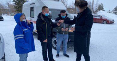 В Усинск прибыл новый автомобиль «Скорой помощи»