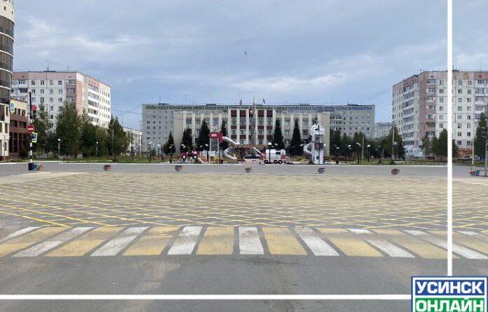 """В Усинске ещё на одном перекрёстке появилась """"Вафельная разметка"""""""