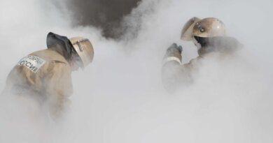 В Усинске горел трактор