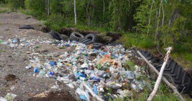В Усинске нашли предприятие, оставившее за собой карьер мусора