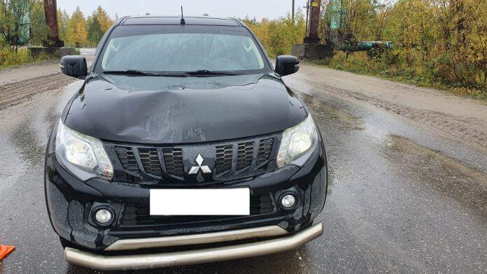 В Усинске пешеход пострадал от иномарки