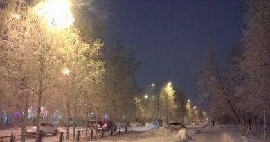 В Усинске продолжает подмораживать
