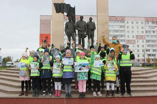 В Усинске прошла акция «Пешеход и дорога»