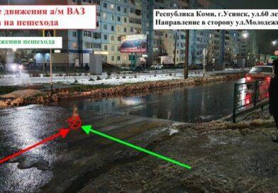 В Усинске вчера сбили пешехода