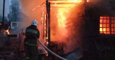 Вчера в Парме огнём полностью уничтожен дом