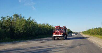 Вчера в Усинске горел автобус
