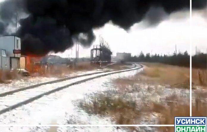 Вчера в Усинске произошёл пожар на станции перекачки нефти
