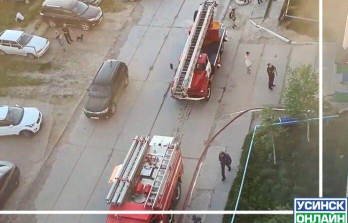 Вчера в Усинске тушили квартиру в жилом доме