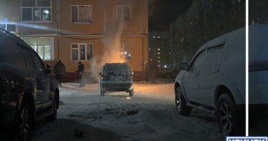 Вчера вечером в Усинске загорелся Daewoo Matiz