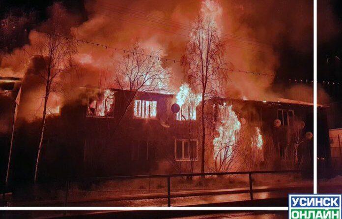 Возгорание произошло в квартире на втором этаже