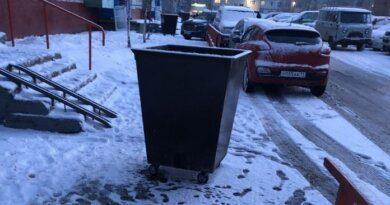 Жители Усинска возмущаются мусорным бакам около подъезда